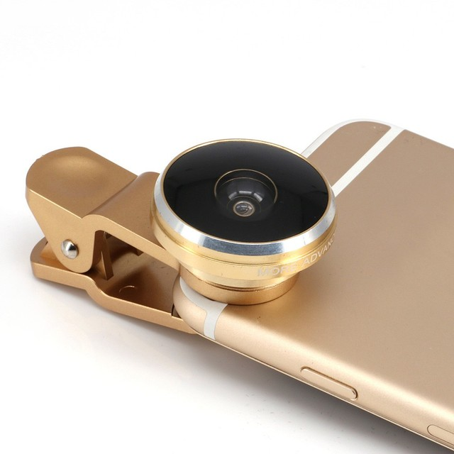 Universal 235 degrees Fish eye camera lens for mobile phone iphone samsung with clip fisheye lenses for iphone 6s plus 5s/4s