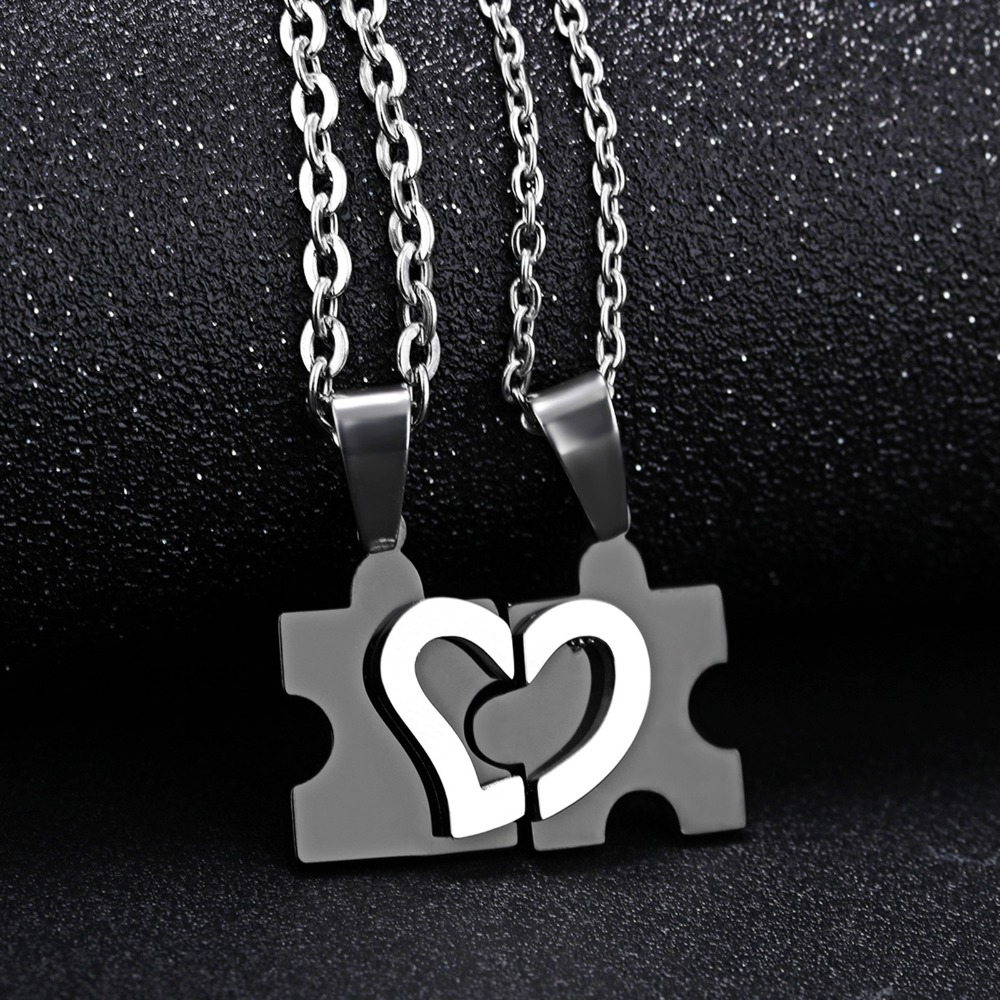 Online Buy Wholesale matching heart necklaces for couples from ...