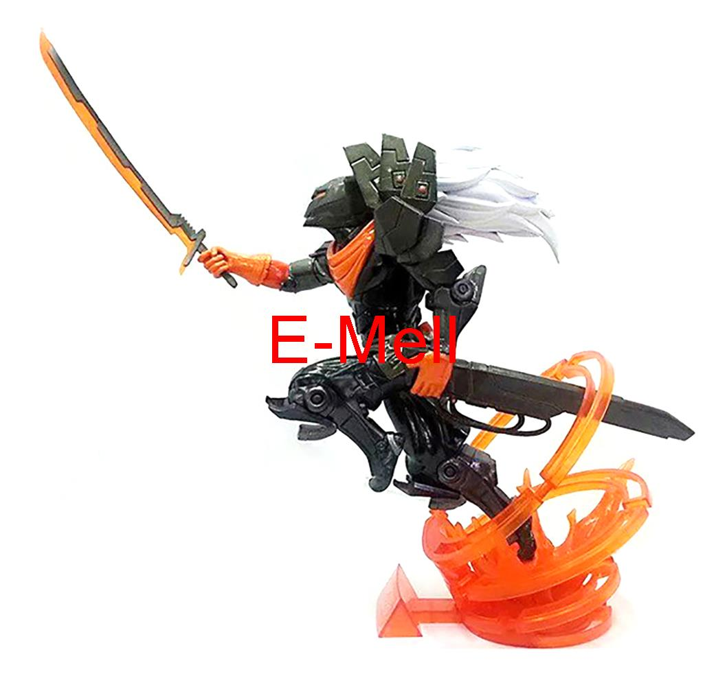 Cosplay 24cm/9.5'' LOL The Unforgiven Yasuo PVC GK Garage Kits Action Figures Toys Model нож с фиксированным клинком bez tine