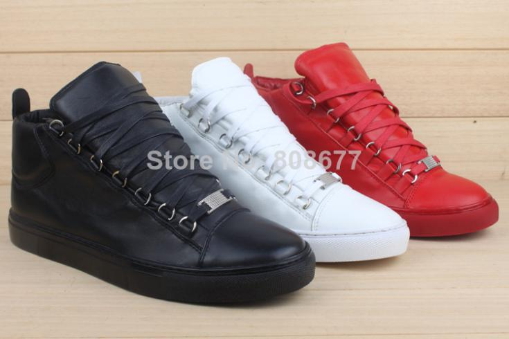 3ddd4128631 Hot Selling BL Arena Brand Trainers Rouge Braise Men s High -top Sneakers  Lace-up Fw 2014 Yeezy Kanye West Fashion Shoes
