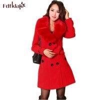 a88e0fc17a7c 3XL 4XL 5XL Plus Size Winter Coat Long Women Woolen Jacket Female Maxi Coats  Slim Women
