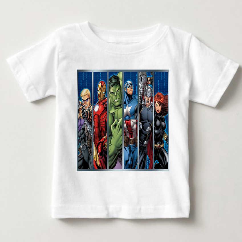 Filmy kapitan ameryka i Iron Man Heroes Avengers chłopcy odzież t-shirty dla chłopców dzieci lato z krótkim rękawem t shirt top MJ