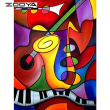 ZOOYA Diamond Embroidery 5D DIY Diamond Painting Abstract Musical Instrument Mosaic Resin Drill Home Decoration Kits Gift R6965