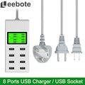 Leebote 8 Портов USB Зарядное Устройство 40 Вт Multi Порт USB Адаптер Питания универсальный Разъем USB Стены Зарядное Устройство для Мобильного Телефона MID MP5