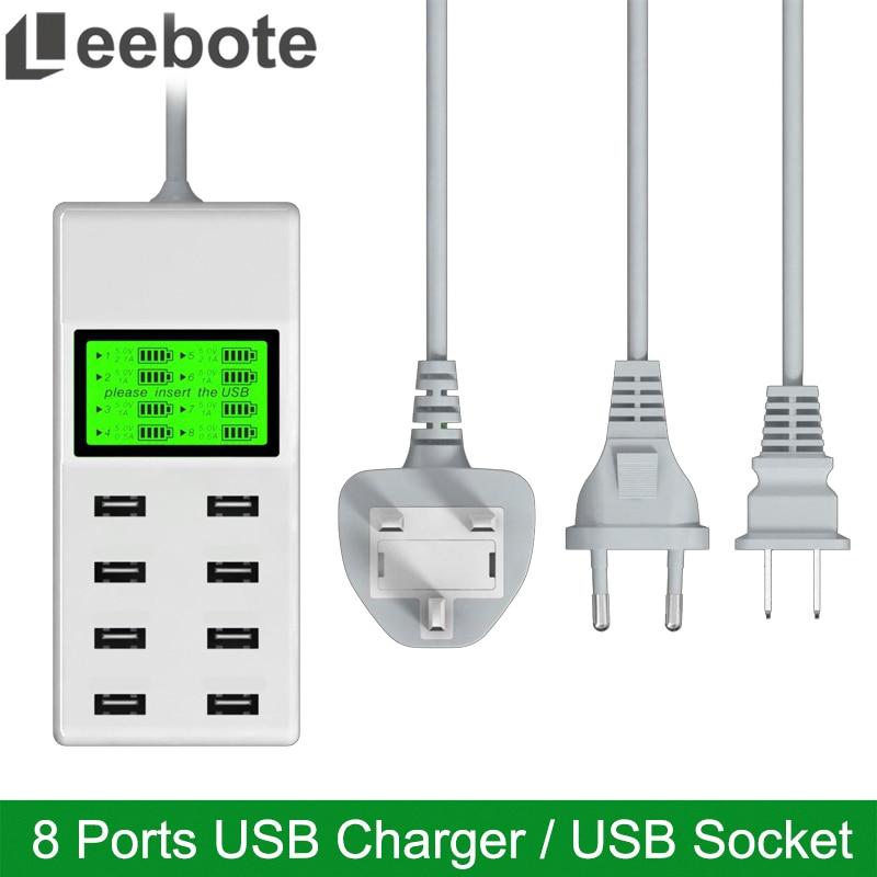 Leebote 8 Ports USB Charger 40W Multi Port USB Power Adapter - Ανταλλακτικά και αξεσουάρ κινητών τηλεφώνων - Φωτογραφία 1