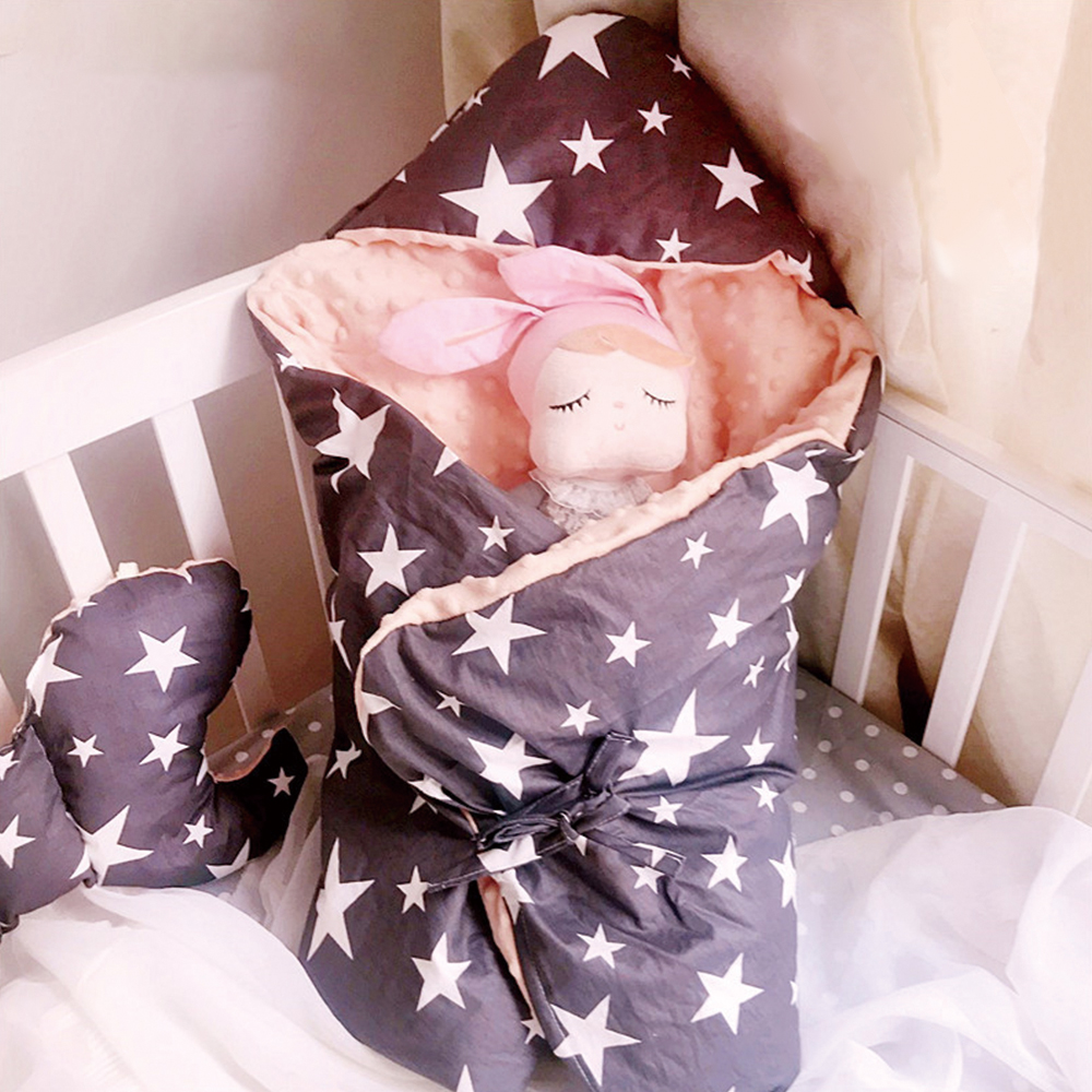 Baby Swaddle Baby Wrap Newborn Blankets Printed Diaper Cocoon Envelopes Quilt Warm Washable Swaddle Sack 85