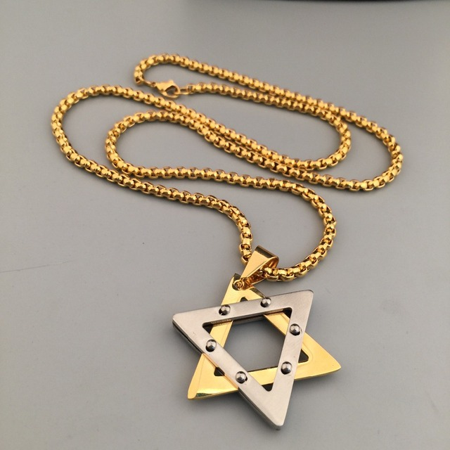 Star Of David Hexagram Pendant Necklaces Satanic Star Witchcraft