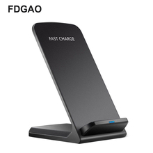 FDGAO 10W 9V Quick Wireless Charger for iPhone X XS 8 Qi Fast Charging Stand Samsung S9 S8 S7 Edge