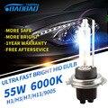 BAOBAO 2pcs Fast Bright 55W 6000K 5200LM HID Headlight Bulb Fog light car styling xenon Headlamp H1 H3 H7 H11 9005 9006 D2H