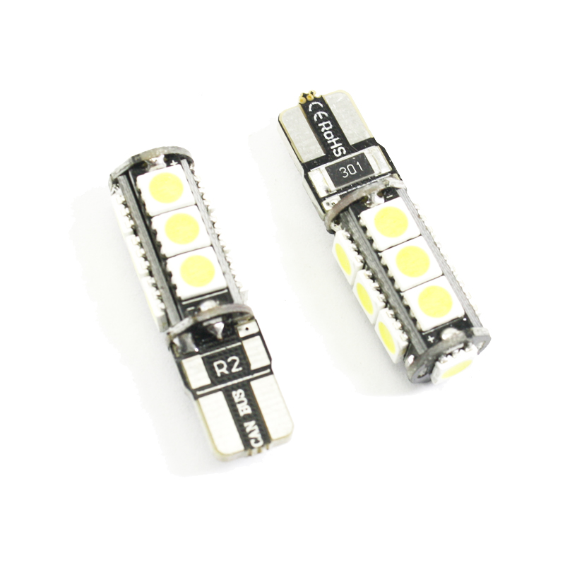 2 st T10 Led W5W CANBUS INGEN FEL 168 921 13SMD 5050 LED billäslampa - Bilbelysning - Foto 4