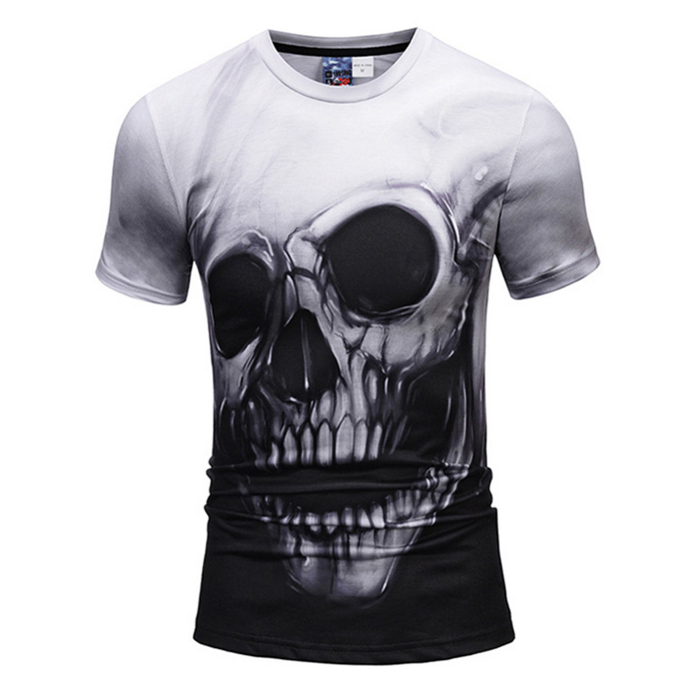 2018 Men 3D Skull Print T Shirt Summer Casual Short Sleeve Tshirt Funny Streetwear Hip Hop Tops Tees T-shirt Camisetas Hombre