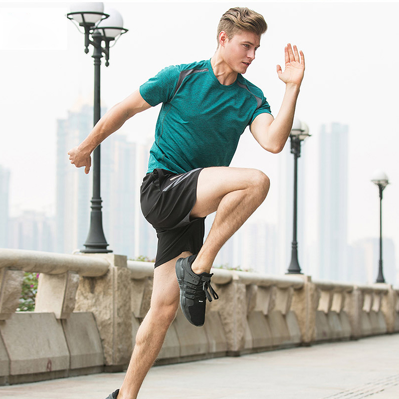 Vansydical Running Suits Fitness Shorts Short Sleeved Sport Suit Men Sport 2pcs Gym Training Running Tracksuits Men Gym Clothing