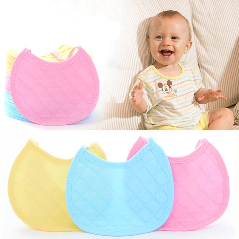 Hot Selling 3pcs/lot Newborn Baby Toddler Kids Pure Cotton Saliva Towel Feeding Bandana Baby Bibs Z87
