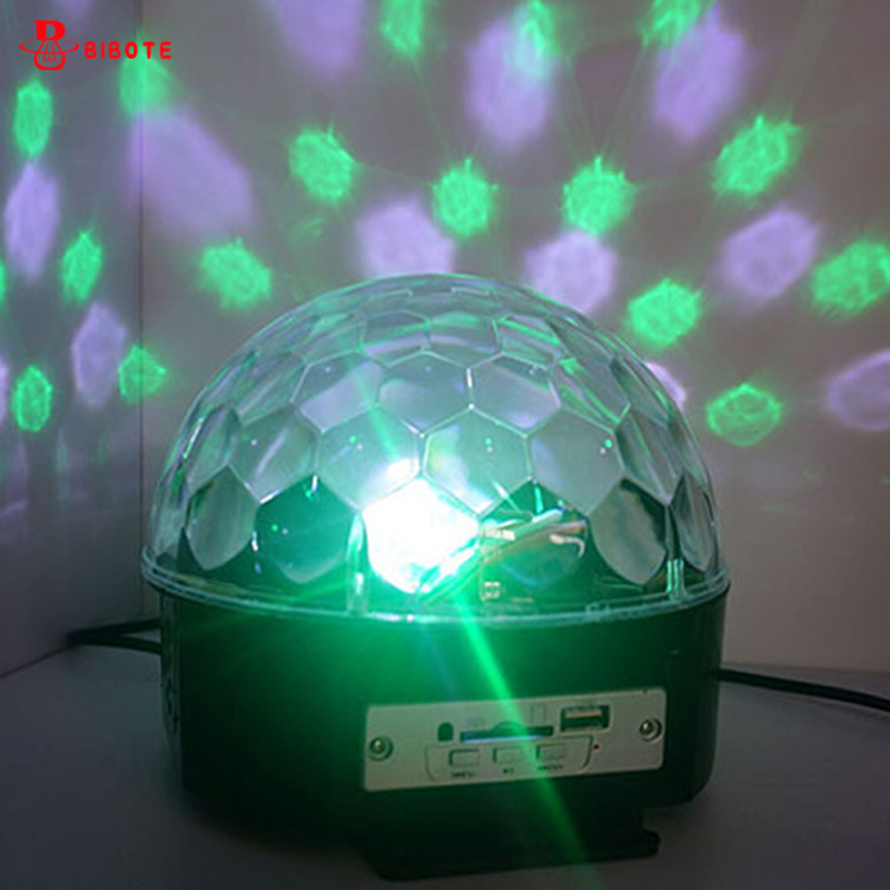 Industrial Light Sound Effect: Led Stage Lamp Sound Control 6 Colors Magic Crystal Ball