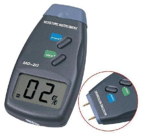 5pcs free shipping Digital Moisture Meter Wood Firewood Damp Tester 2-Pin