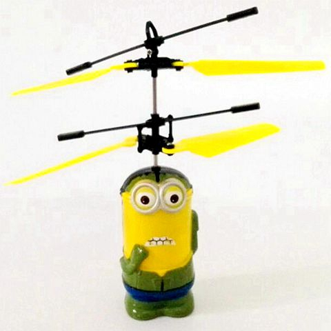 Hot Sale Induction Flying Toy Despicable Me Minion Remote Control RC Helicopter Quadcopter Drone Kid Toys Top Quality
