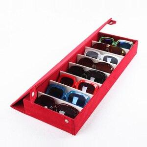 Image 3 - Чехол для очков Moedoa 48,5*18*6 см, сетчатый чехол для хранения очков, солнцезащитных очков, 8 отделений, витрина для очков