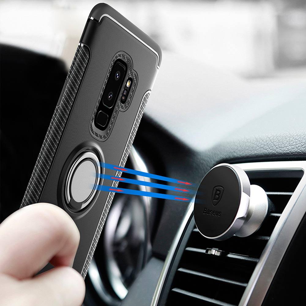 YOYO DEER Hybrid Fall für Samsung Galaxy S9 Plus/S9 Auto magnetischer Halter Stoßfest TPU + PC Abdeckung für Samsung S9 Plus Phone Cases