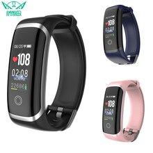 AMYNIKEER smart bracelet M4 fitness tracker mens bracelet womens bracelet heart rate monitoring support Android IOS PK G26