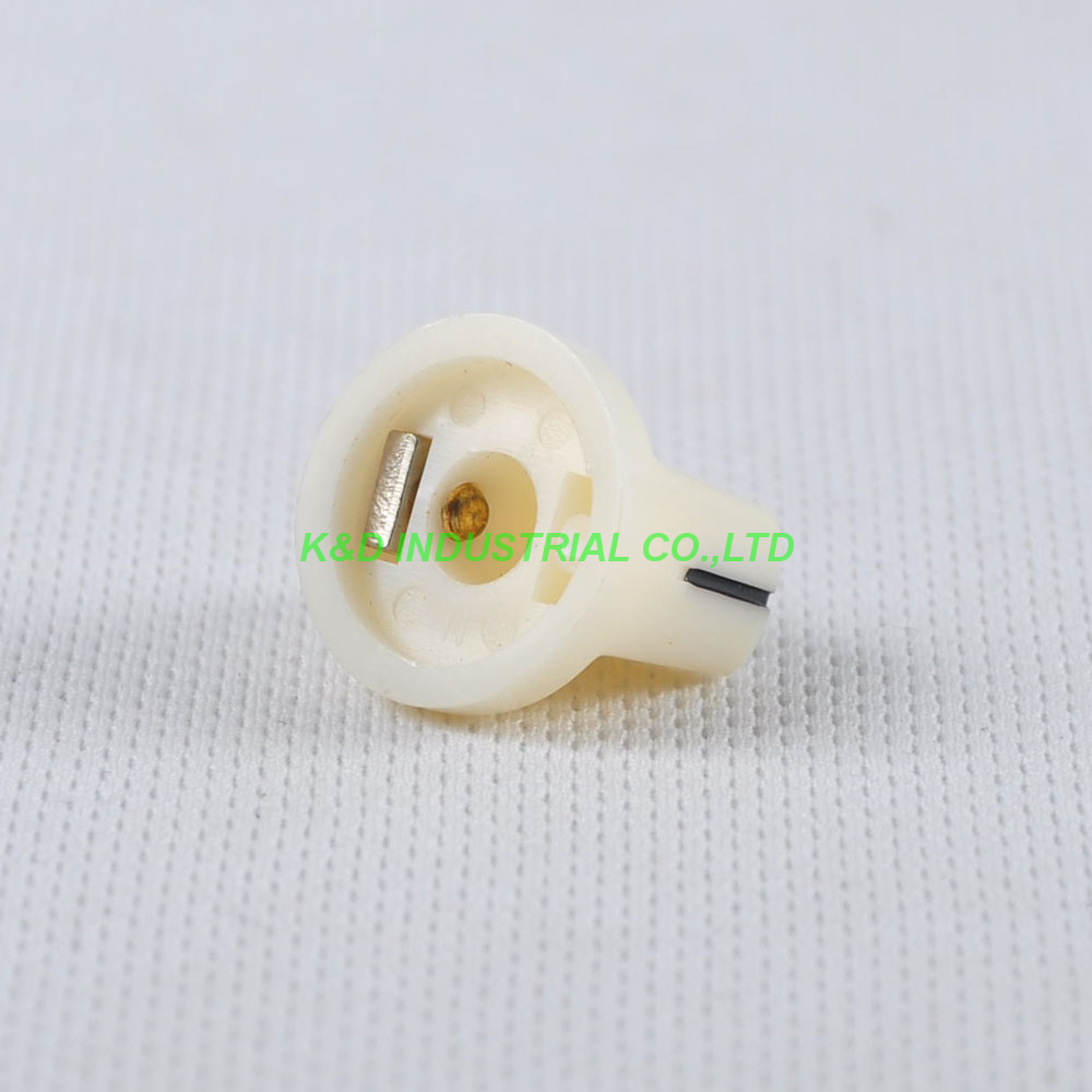 10pcs Colorful Cream Rotary Volume Control Plastic Potentiometer Knob Knurled Shaft Hol