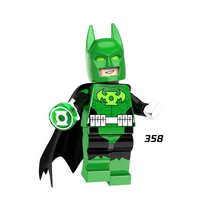 Single Sale Super Heroes Star Wars 358 Green Lantern Batman Building Blocks Figure Bricks Toys Gifts Compatible Legoed Ninjaed