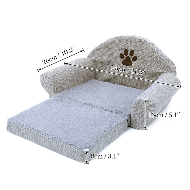 Pet Removable Dog Bed Four Seasons Gray Dog Sofa Dog Cat House Washable Pet Cushion For Pet bed Animals Pet Products 2