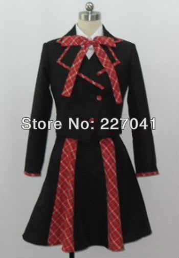 High School  Uniform Halloween cosplay costume  Free Shipping A0195