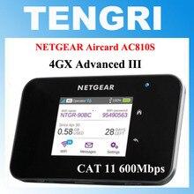 """Разблокированный 2,"""" сенсорный экран Netgear Aircard AC810S 810S с 2 антеннами Cat11 600 Мбит/с 4G LTE MiFi Мобильная точка доступа wifi роутер"""