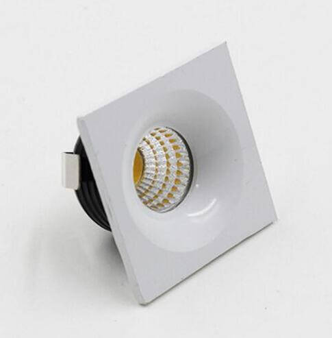 2 pièces livraison gratuite Dimmable 3 W LED mini downlight LED armoire lampe spot lumière blanc chaud/froid avec pilote AC285-265V/110 V/220 V