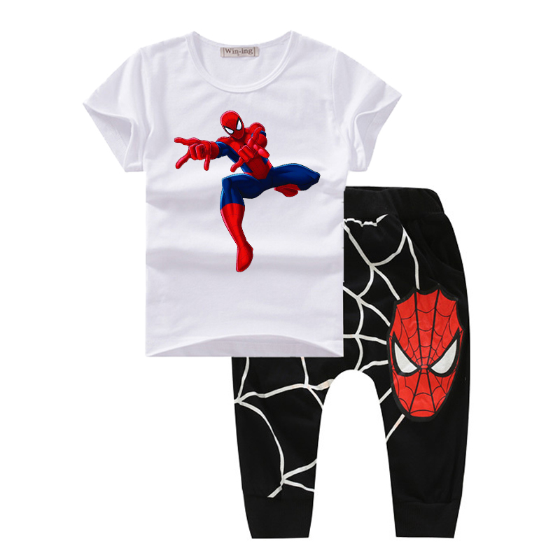 73509df8d baby boy clothes spring 2017 bodysuit boutique kids clothes spiderman  children clothing sets summer costume t shirt and pants T1-in Clothing Sets  from ...