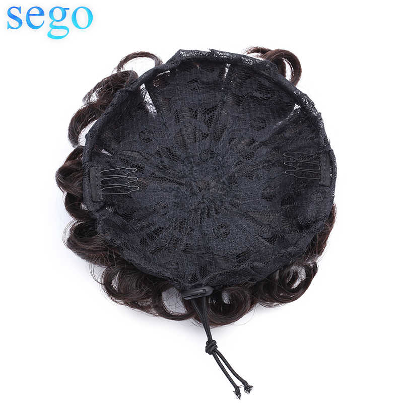SEGO 30g Malaysia Human Hair Non-Remy Chignon For Woman Pure Color 100% Human Hair Clip in Ponytails 1Piece 7 Colors Avaliable