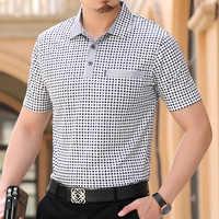 Camisetas Polo de verano para hombre marca Thoshine 95% estilo de negocios de viscosa Camisa Polo de punto a cuadros para hombre collar