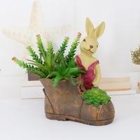 Mum Bunny Figurine and Miniature DIY Succulent Plants Rabbit Family Pot Garden Home decoration Accessories Grass Bonsai Farm
