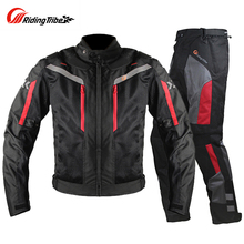 Motorcycle Jacket Men Breathable Pants Moto Windproof Motorbike Cruiser Touring Cycling Clothing Raincoat