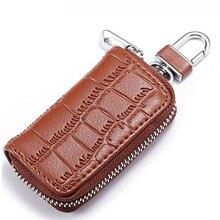 Genuine Leather Car Key Wallet multifunction key holder Fashion Woman Men Housekeeper Holders Candy Color Key Holder Wallet