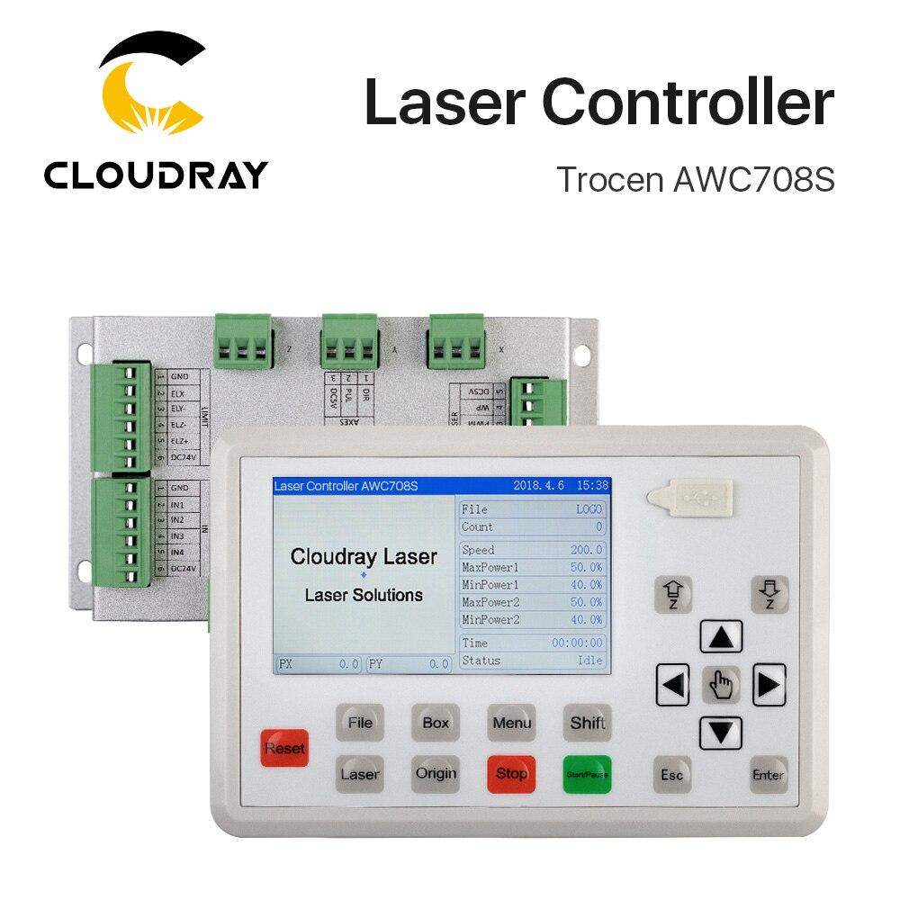Trocen awc708s co2 sistema de controlador do laser para gravação a laser e máquina de corte substituir awc708c lite ruida leetro
