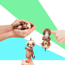 New Finger unicorn Interactive Baby Unicorn Mini Interactive Finger sloth Smart Finger monkey Smart Unicorn Toys Christmas Gift(China)