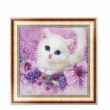 DIY 5D Diamond Embroidery Cute little Cat Painting Cross Stitch Home Decor 30*30cm #K400Y#