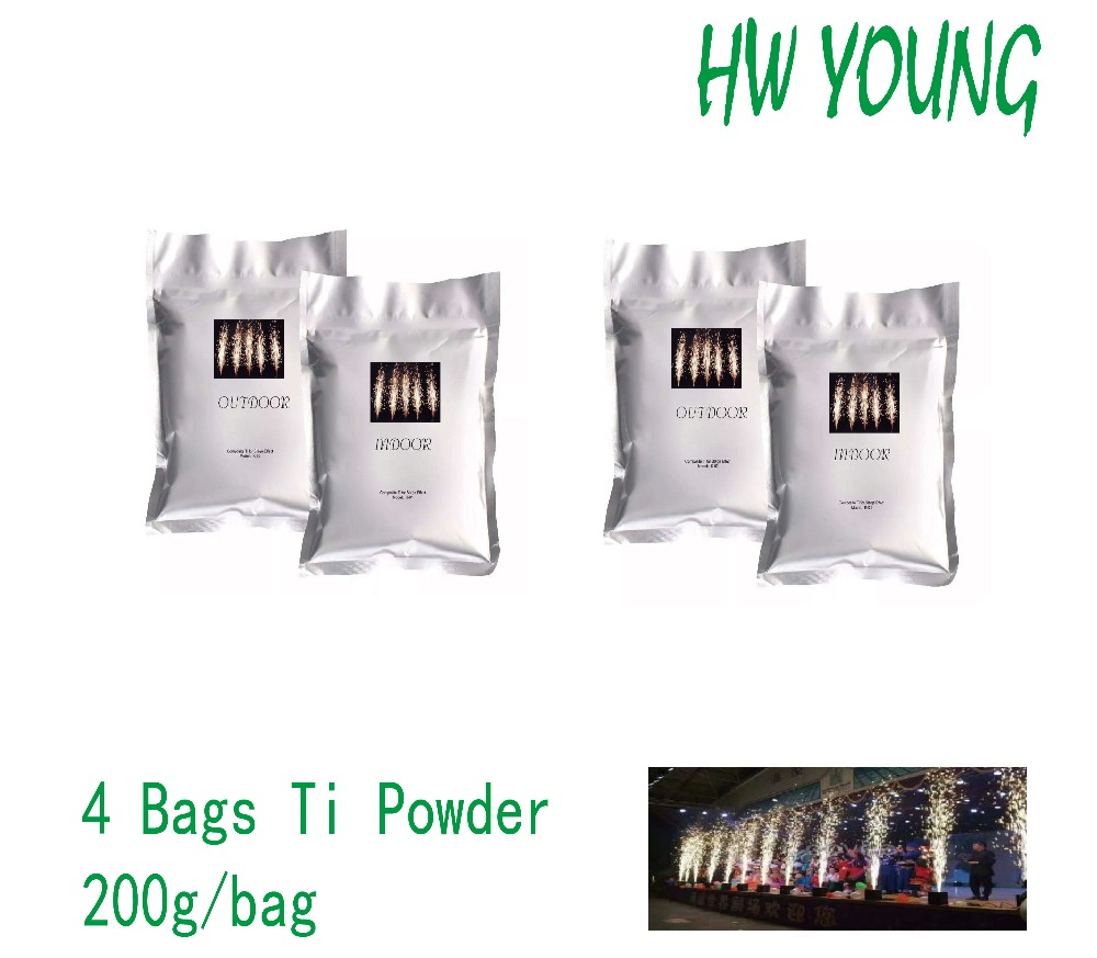 HWyoung 4 bags/200g Ti powder fire machine cold spark fireworks machine wedding party Titanium Powder  machine Effect FountainHWyoung 4 bags/200g Ti powder fire machine cold spark fireworks machine wedding party Titanium Powder  machine Effect Fountain