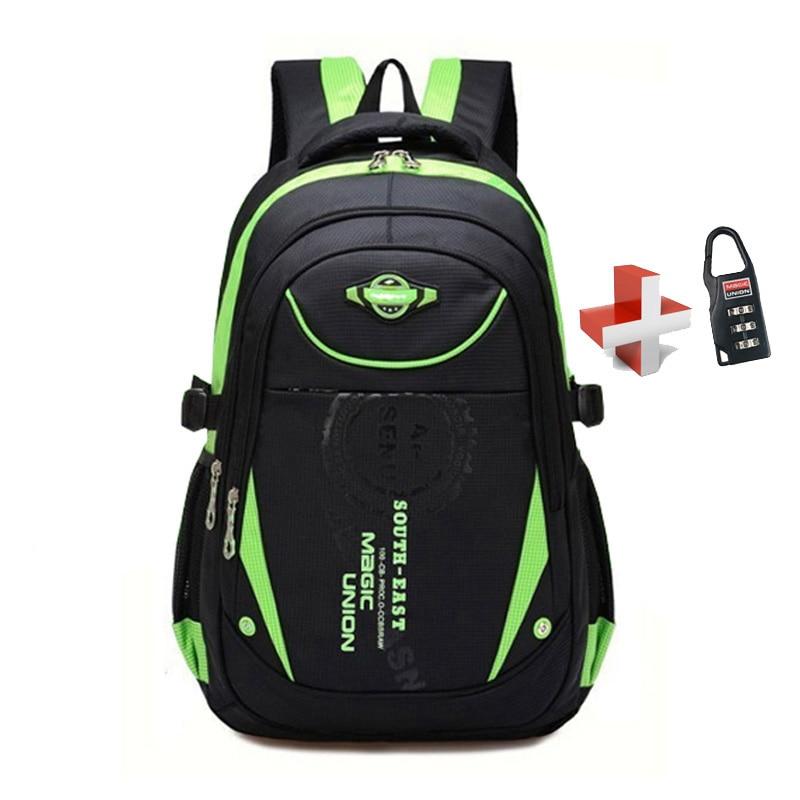 School-Bags Backpack Waterproof-Bag Girls Boys Children for in with Lock
