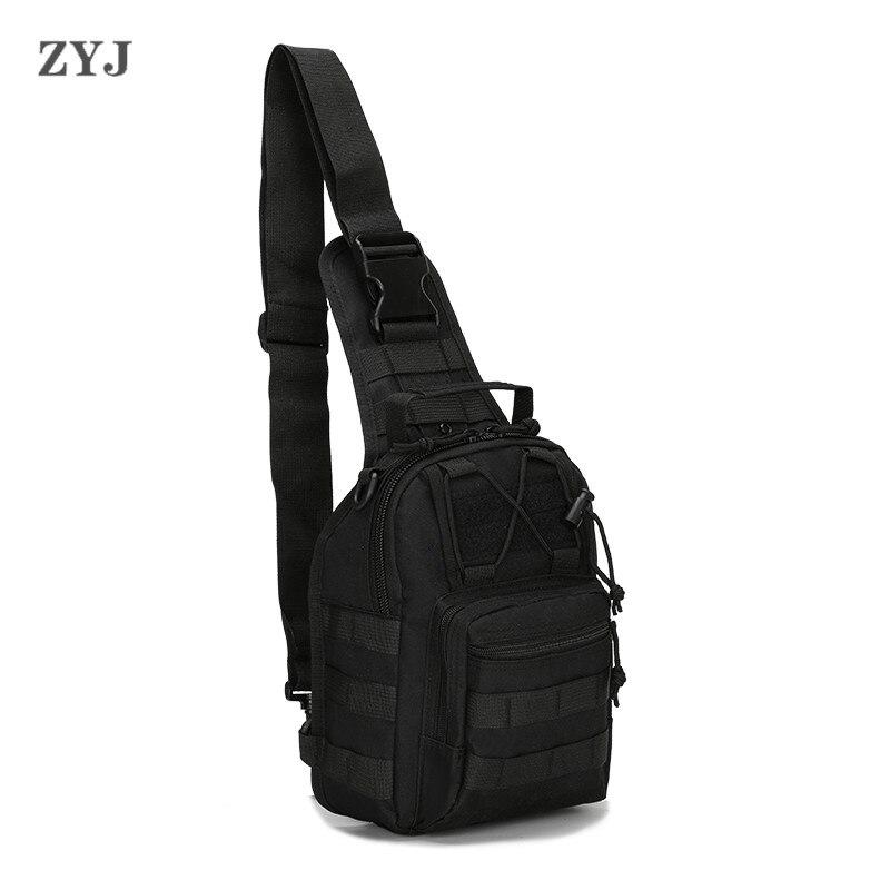 ZYJ камуфлаж тактически гърдите прашка спортни чанти пакети колоездене случайни пътуване пратеник crossbody рамото талия пакет  t