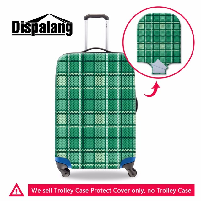 Dispalang Waterproof Covers for 18-30 inch Luggage Case Plaid Prints Travel Suitcase Protective Covers Elastic Luggage Covers