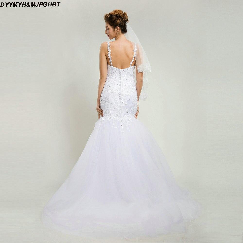 Vintage Mermaid Tulle Wedding Dresses Sweetheart Button Back ...