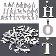 Hot Sale 1pc Initial Alphabet Letter A-Z Pendant Charms Fit For Necklace Statement Unisex Fashion DIY Stainless steel Jewelry