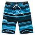 2017 Новая Мода Полосой Мужские Пляжные Шорты Свободные Quick Dry Купальники Мужчины Бермуды