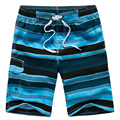 2017 New Fashion Stripe Mens Beach Shorts Loose Quick Dry Swimwear Men Bermuda