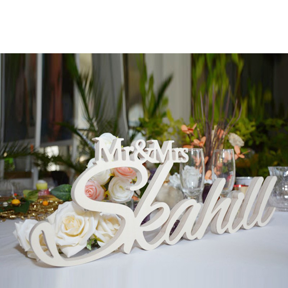 Custom white letter M. and Mrs NAME of family Wedding Wedding Sign m. and Mrs. Last Name ...