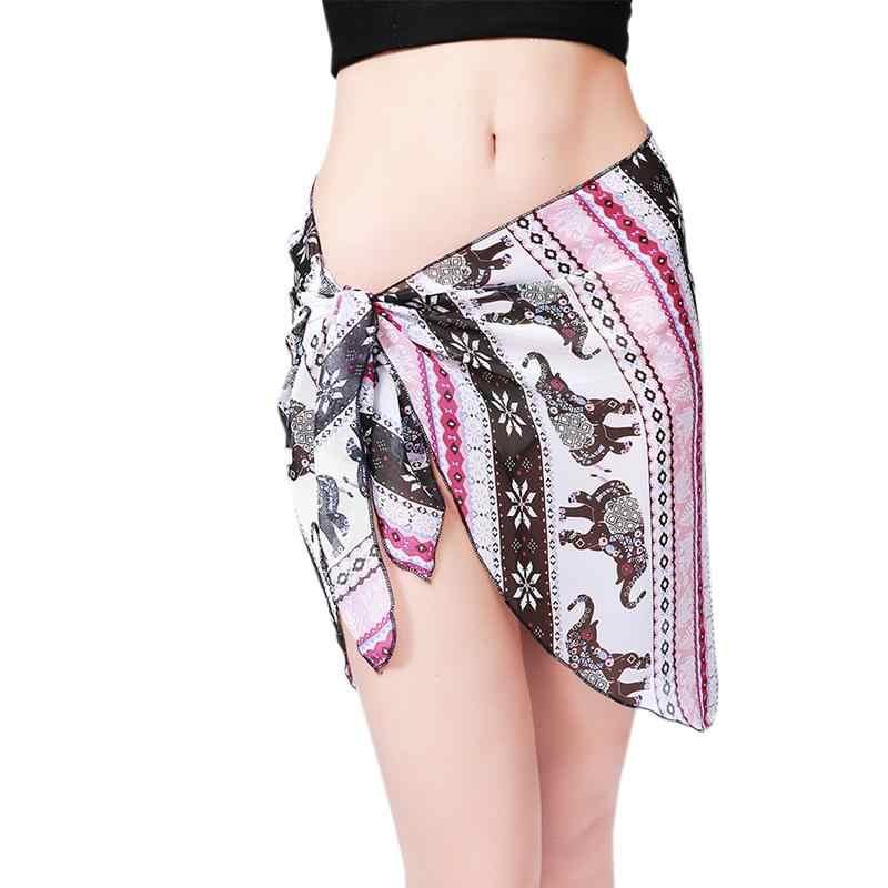 ab4b9808e474b ... Dropshipping Women Beach Sarongs Chiffon Cover Up Bikini Swimwear  Coverup Wrap Skirt Swimsuit