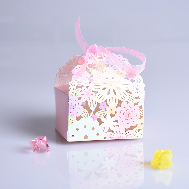 5 шт./лот сладкий цветок Лазерная резка Шоколад Бумага Подарочная коробка для свадьбы коробка конфет Casamento на день рождения Чай Подарки для г...