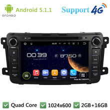 Quad Core 8″ 1024*600 Android 5.1.1 Car Multimedia DVD Player Radio Stereo FM DAB+ 3G/4G WIFI GPS Map For Mazda CX-9 2012-2015